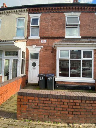 Terraced house for sale in Edmund Road, Birmingham