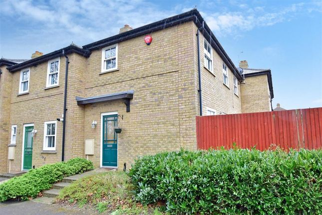 Thumbnail End terrace house for sale in Falcon Close, Herne Common, Herne Bay, Kent