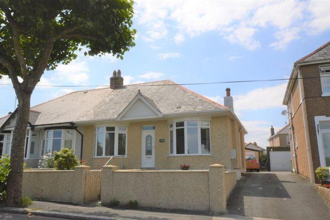 Thumbnail Semi-detached bungalow for sale in Roman Way, Plymouth, Devon