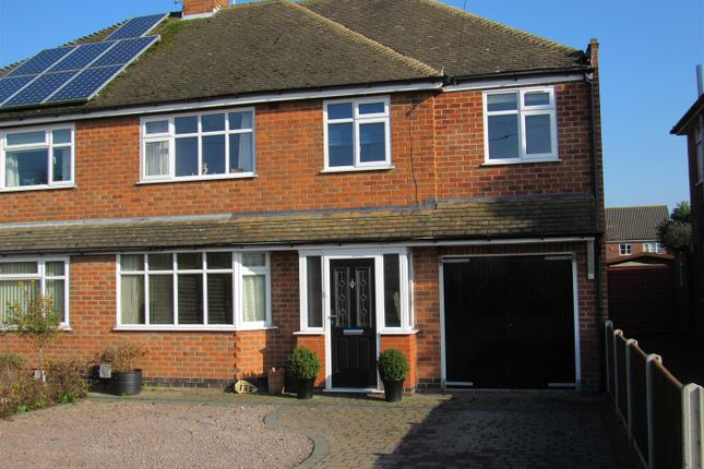 Thumbnail Semi-detached house for sale in Winchester Road, Countesthorpe, Leicester