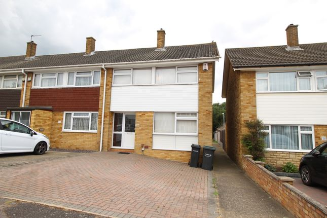 Thumbnail End terrace house for sale in Kemsley Close, Northfleet, Gravesend, Kent