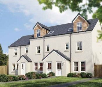 "Thumbnail Town house for sale in ""The Benvie"" at Stable Gardens, Galashiels"