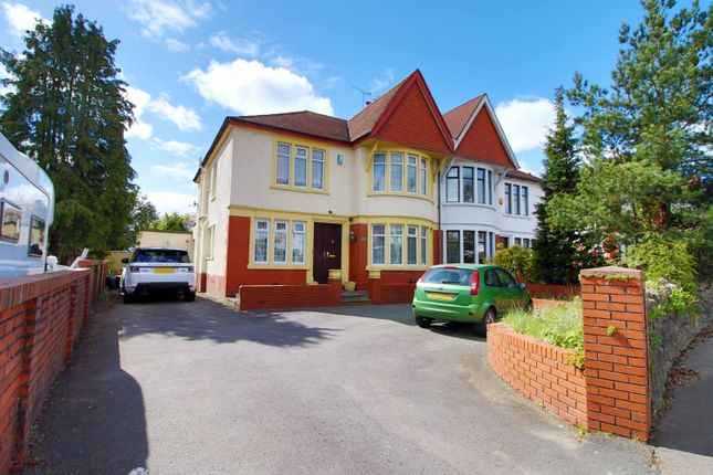 Thumbnail Semi-detached house for sale in Cyncoed Road, Cardiff