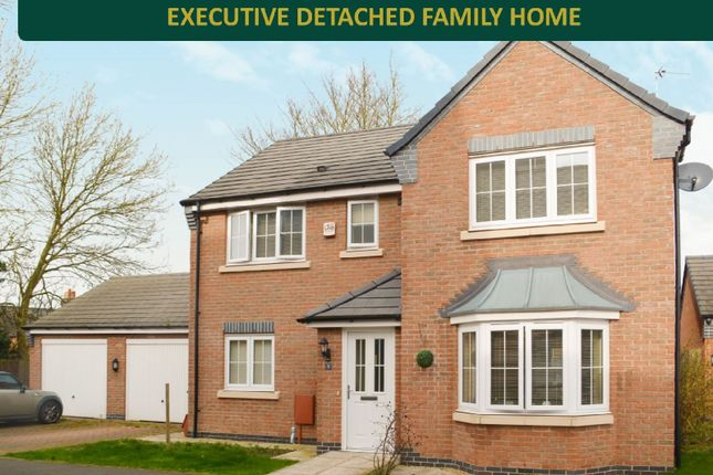 Thumbnail Detached house for sale in Abington Close, Wigston, Leicester