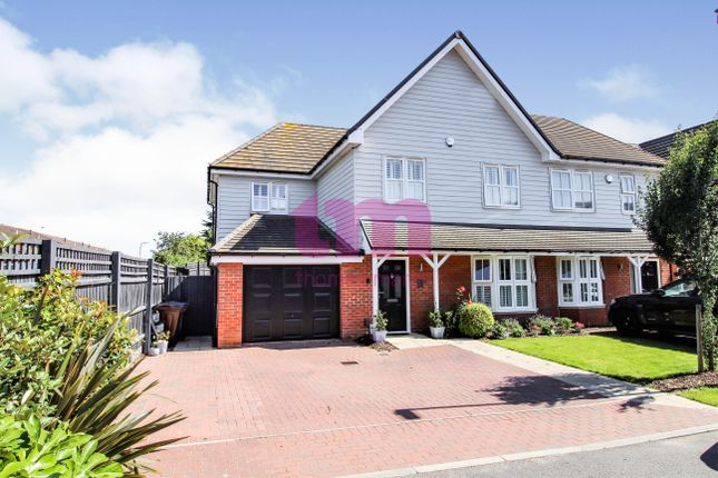 Thumbnail Semi-detached house for sale in St. Johns Mews, St. Johns Way, Corringham, Stanford-Le-Hope