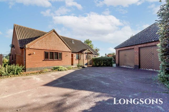 Thumbnail Detached bungalow for sale in The Street, North Pickenham