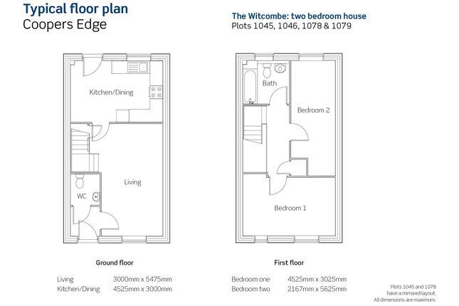 Floorplan of Coopers Edge, Hawthorne Close, Brockworth Gloucestershire GL3