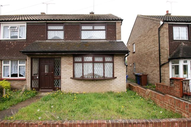 Thumbnail End terrace house to rent in Wickham Road, Chadwell St Mary