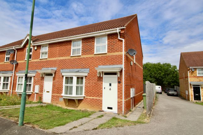 Thumbnail End terrace house to rent in Cosway Place, Grange Farm, Milton Keynes