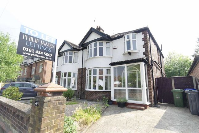 Thumbnail Semi-detached house to rent in Fog Lane, Didsbury, Manchester, Greater Manchester