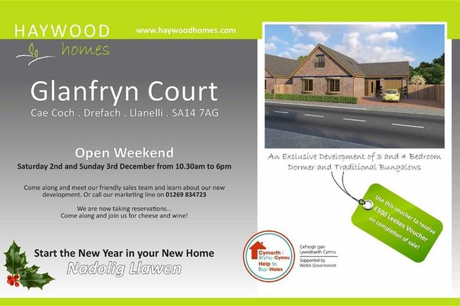 Thumbnail Detached bungalow for sale in Glanfryn Court, Heol Cwmmawr, Dreafch, Nr Cross Hands