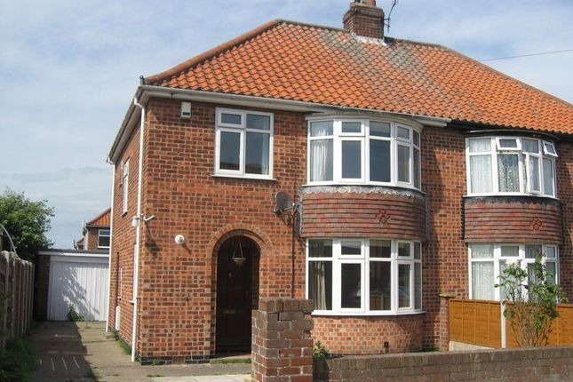 Thumbnail Semi-detached house to rent in Broome Close, Huntington, York