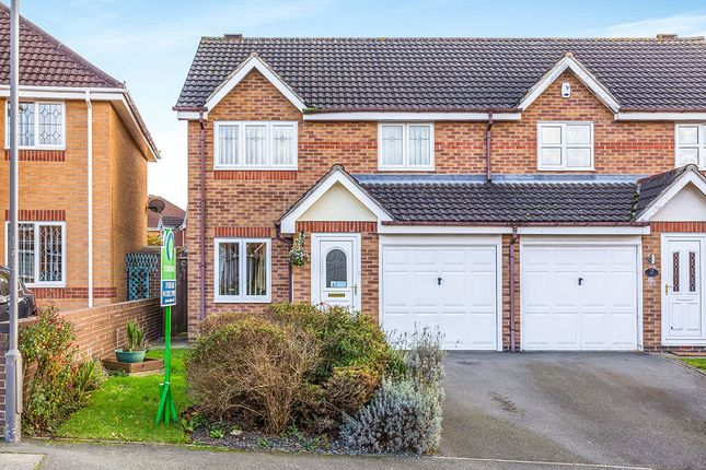 Thumbnail Semi-detached house for sale in Newton Park Close, Newhall, Swadlincote