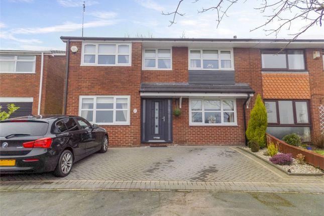 Thumbnail Semi-detached house for sale in Trevarrick Court, Horwich, Bolton, Lancashire