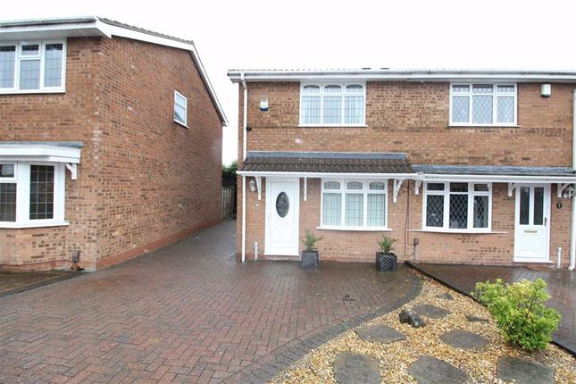 Thumbnail Semi-detached house for sale in Bordeaux Close, Milking Bank, Dudley