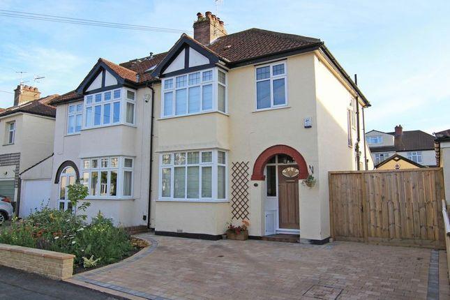 Thumbnail Semi-detached house for sale in Lyndhurst Road, Westbury-On-Trym, Bristol