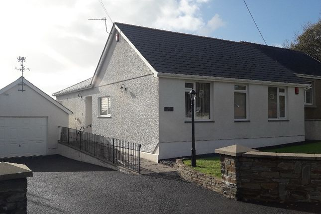 Thumbnail Detached bungalow for sale in Llanddarog, Carmarthenshire