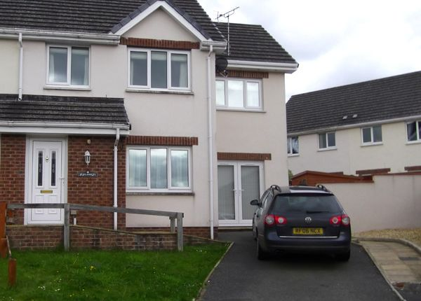 Thumbnail Semi-detached house to rent in Bryn Deri Close, Newcastle Emlyn, Ceredigion, West Wales