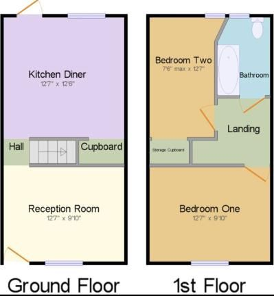Floorplan of Hudson Street, Burnley, Lancashire BB11