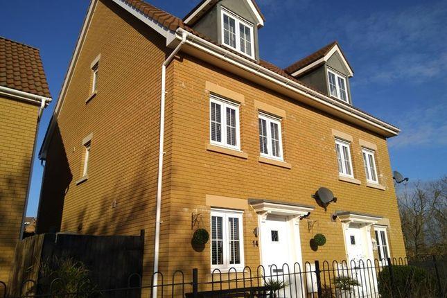 Thumbnail Semi-detached house for sale in Company Farm Drive, Llanfoist, Abergavenny