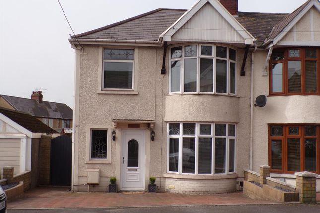 3 bed semi-detached house for sale in Bracken Road, Margam, Port Talbot SA13