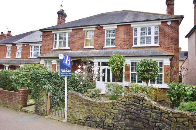 Thumbnail Semi-detached house for sale in Warley Hill, Warley, Brentwood, Essex
