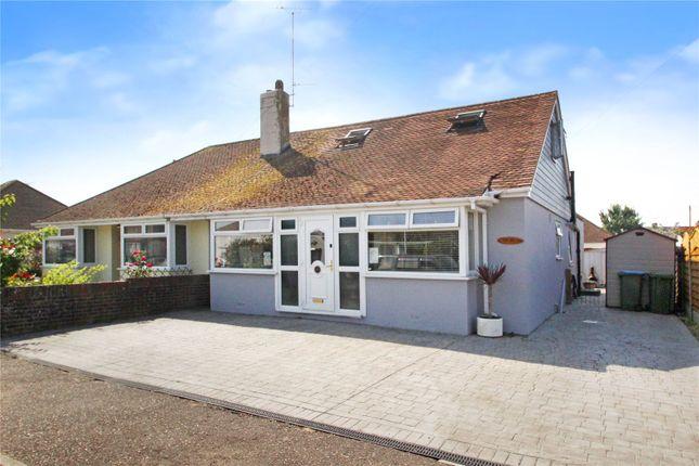 Thumbnail Semi-detached house for sale in Warren Crescent, East Preston, West Sussex
