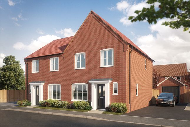 Thumbnail Semi-detached house for sale in Woodpecker Avenue, Holt