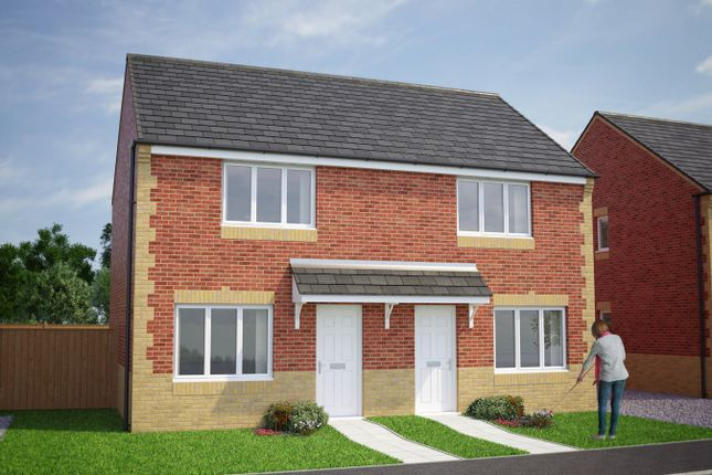 Thumbnail Semi-detached house for sale in Plot 85, Cork, Briar Lea Park, Longtown, Carlisle