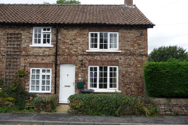 Thumbnail End terrace house to rent in The Nookin, Husthwaite, York