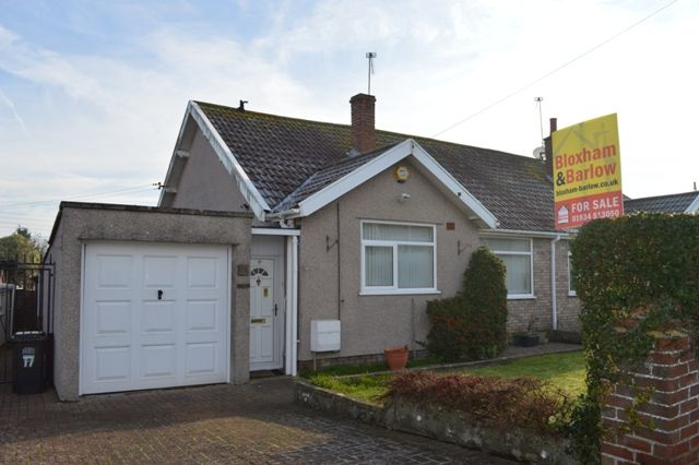 Thumbnail Semi-detached bungalow for sale in South Lawn, Locking, Weston-Super-Mare