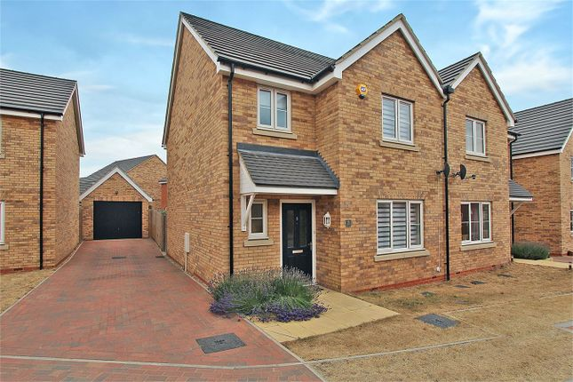 Thumbnail Semi-detached house for sale in Keeley Croft, Shortstown, Bedford