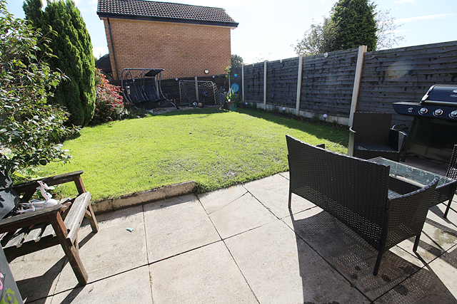 Rear Garden of Collingwood Way, Westhoughton, Bolton BL5