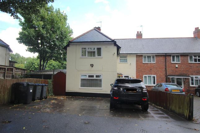 Thumbnail End terrace house for sale in Churchill Road, Bordesley Green, Birmingham