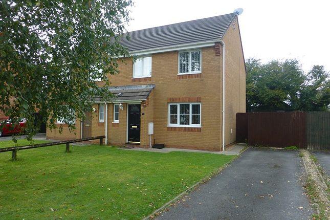Thumbnail Semi-detached house for sale in Carregamman, Ammanford, Carmarthenshire.