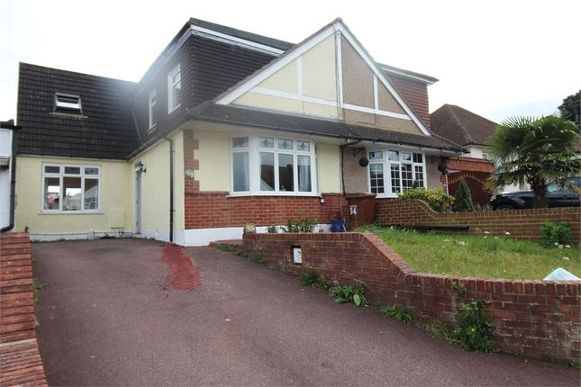Thumbnail Semi-detached bungalow for sale in Woodlands Road, Gillingham, Kent.