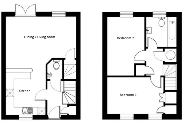 2 bedroom end terrace house for sale in Farriers Way, Widegates, Looe, Devon