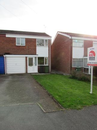 Thumbnail Semi-detached house to rent in Fosterd Road, Newbold, Rugby, Warwickshire