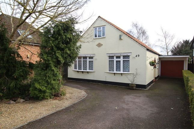 Thumbnail Detached bungalow for sale in Station Road, Cropston, Leicester