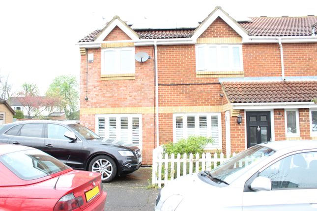 Thumbnail End terrace house to rent in Foxmead Close, Enfield