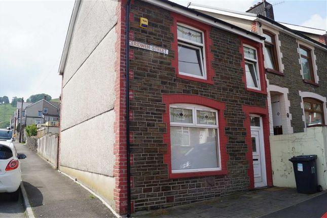 Thumbnail End terrace house for sale in Ceridwen Street, Mountain Ash