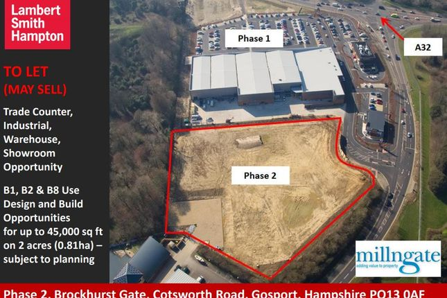 Thumbnail Retail premises to let in Plot B Phase 2 Brockhurst Gate, Cotsworth Road, Gosport, Hampshire
