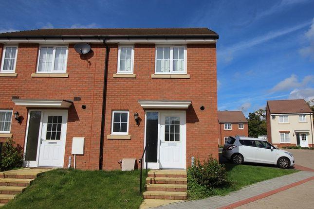 Thumbnail End terrace house for sale in Brynteg Green, Beddau, Pontypridd, Rhondda, Cynon, Taff.