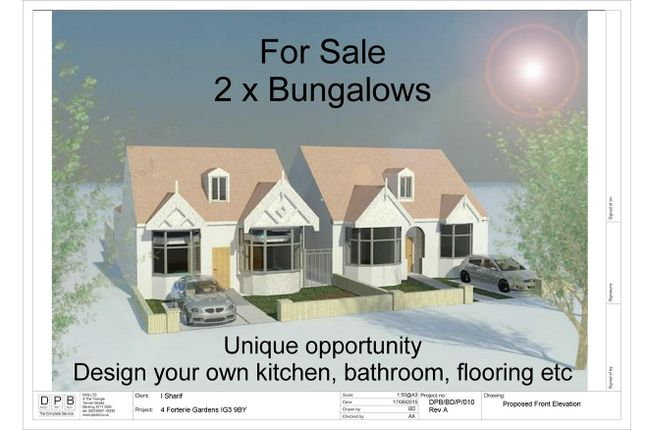 Thumbnail Detached bungalow for sale in Forterie Gardens, Ilford