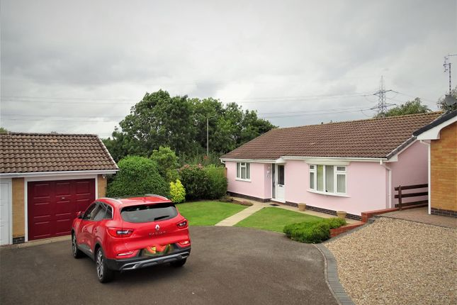 Thumbnail Detached bungalow for sale in Forge Close, Glenfield, Leicester