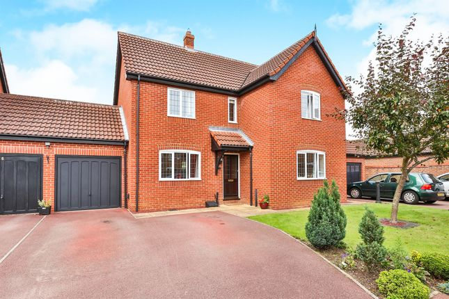Thumbnail Link-detached house for sale in Honeysuckle Drive, Dereham