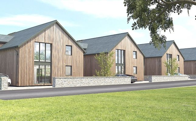 Thumbnail Detached house for sale in North Of Dinefwr Road, Garnant, Ammanford, Carmarthenshire.