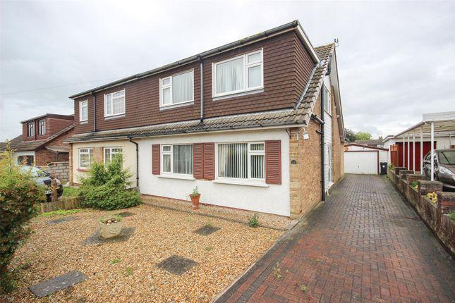 Thumbnail Semi-detached house for sale in Bourton Avenue, Stoke Lodge, Bristol
