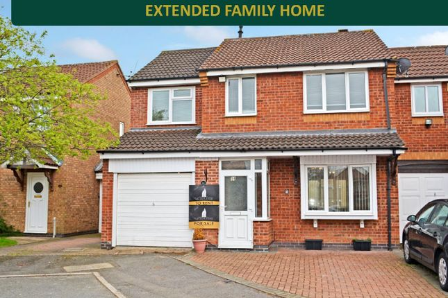 Thumbnail 5 bed end terrace house for sale in Larchwood Close, West Knighton, Leicester