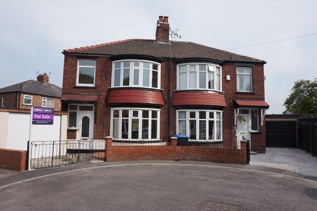 Thumbnail Semi-detached house for sale in Manitoba Gardens, Longlands, Middlesbrough
